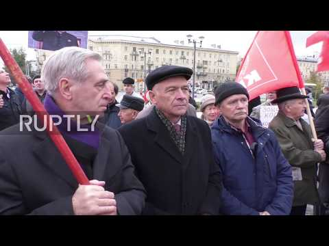 Russia: Russian Communist Party rallies in support of N. Korea