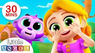 Peek A Boo, I See you! | The Princess and Baby Monkey |  Kids Songs by Little Angel