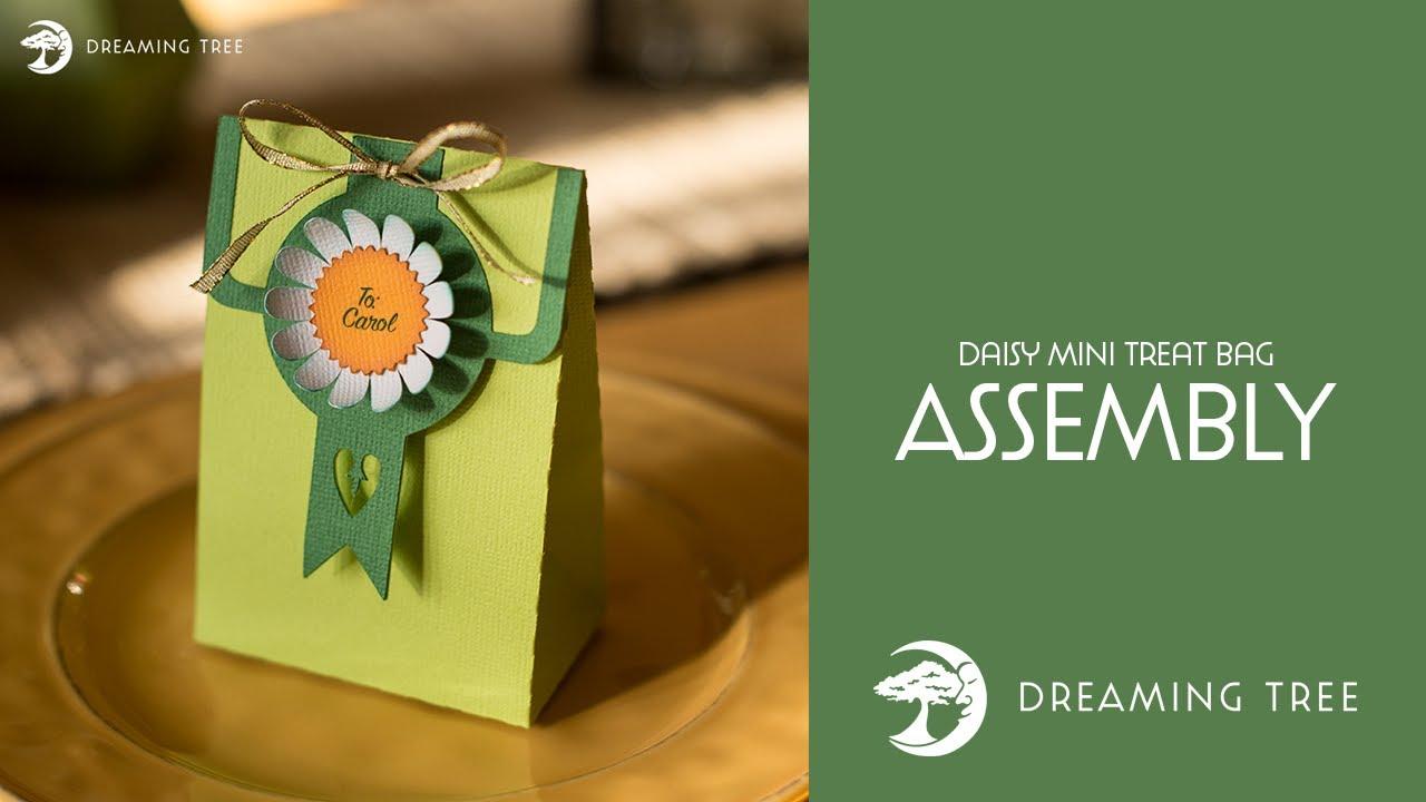 Daisy Mini Treat Bag (Free SVG) - Assembly Tutorial