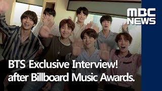 bts exclusive interview after billboard music awards only at mbc news