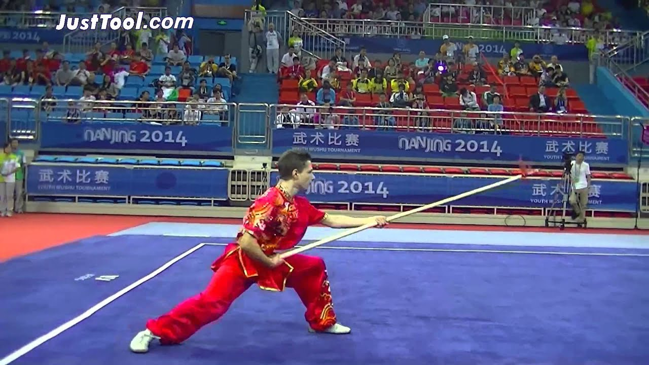 Nanjing 2014 Youth Wushu Tournament - Wushu (Taolu) - Men's Qiangshu  (Spear) - 2nd Place