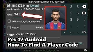 PES 18 Android How To Find A Player Code