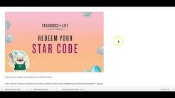 star codes for starbucks