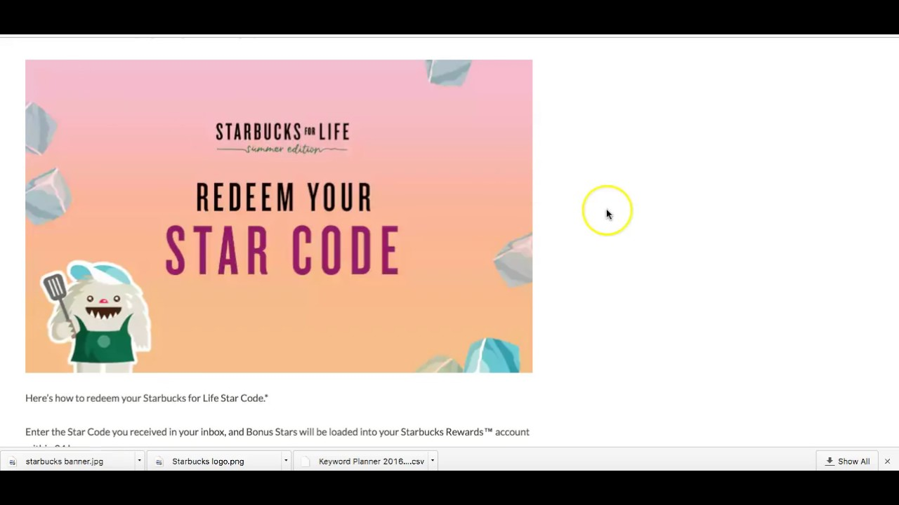 Use your Starbucks gift card to join our rewards program for free drinks, food and more. Redeem your Star codes with our Starbucks rewards program.