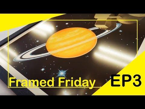 We frame a modern space art print | Framed Friday S01EP03