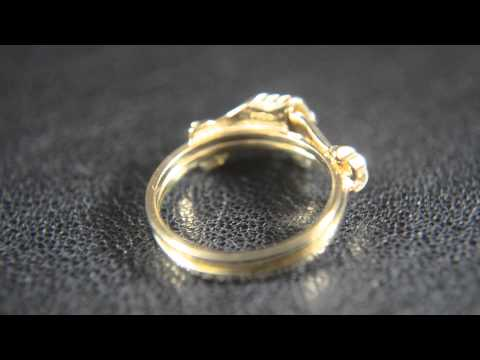 14k Gold Hand Shape Promise Ring