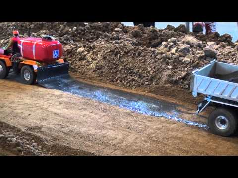 Road Construction site applying the asphalt layer