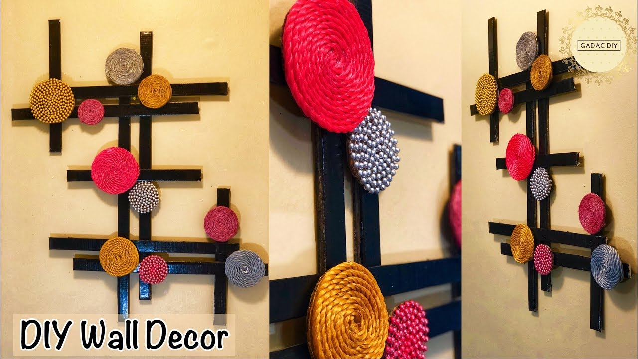 Very Unique Wall Hanging Gadac Diy Wall Hanging Ideas Wall Decor Diy Craft Ideas For Home Decor Youtube