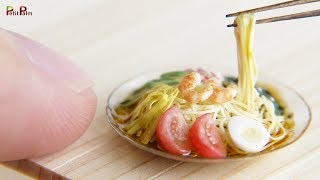 Miniature Cold Ramen (Hiyashi Chuka) DIY - Petit Palm