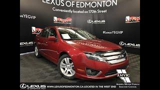 Red 2012 Ford Fusion SEL Review Edmonton Alberta - Lexus of Edmonton