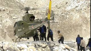 Nepal Army helicopters play an important part in mountain rescue