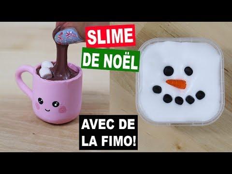 SLIME DE NOËL KAWAII⎪Fimo et Slime