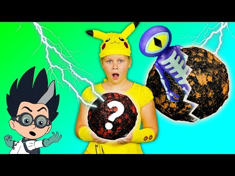 ASSISTANT Spooky Surprise Moon Rocks with PJ Masks and Other Fun Toys