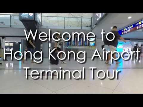 Walking around Hong Kong's Airport Terminal