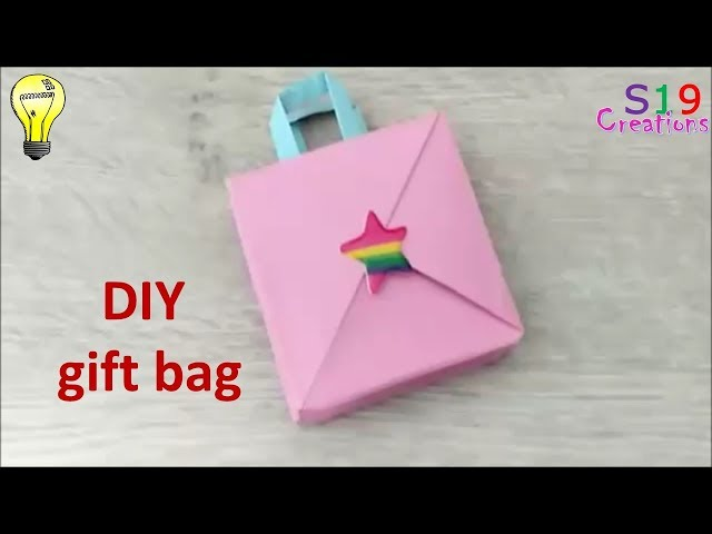 Download How To Make A Mini Gift Bag Paper Crafts Origami Kids