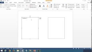 Linking Text Boxes in Microsoft Word