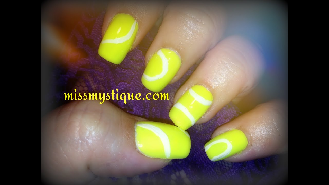 Tennis Ball Nail Art - YouTube