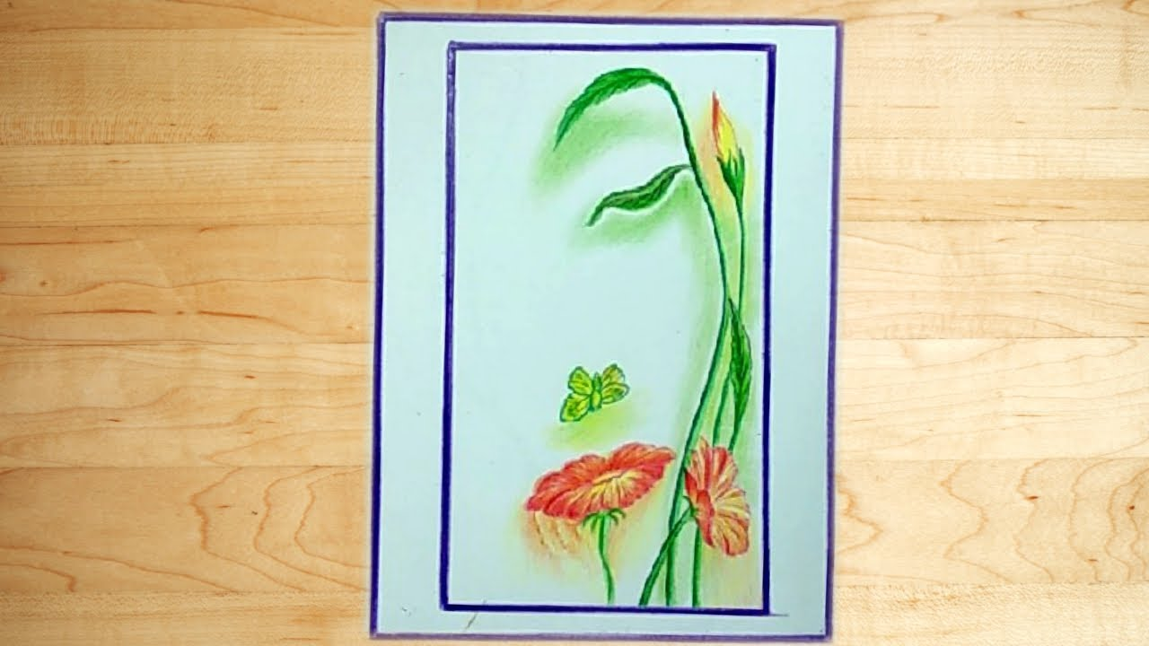 Cool easy drawing color pencil drawing a beautiful picture
