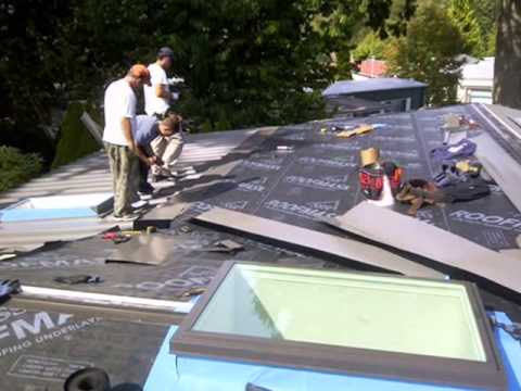 Metal Roof On A Mobile Home Youtube