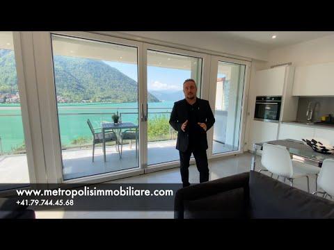 Moderno appartamento attico duplex di 4.5 locali con stupenda vista lago e terrazza a Capolago