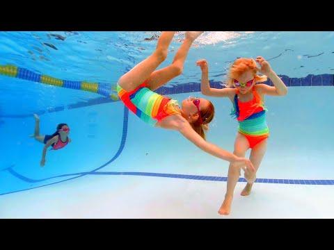 Rainbow Twin Swimming - 동영상