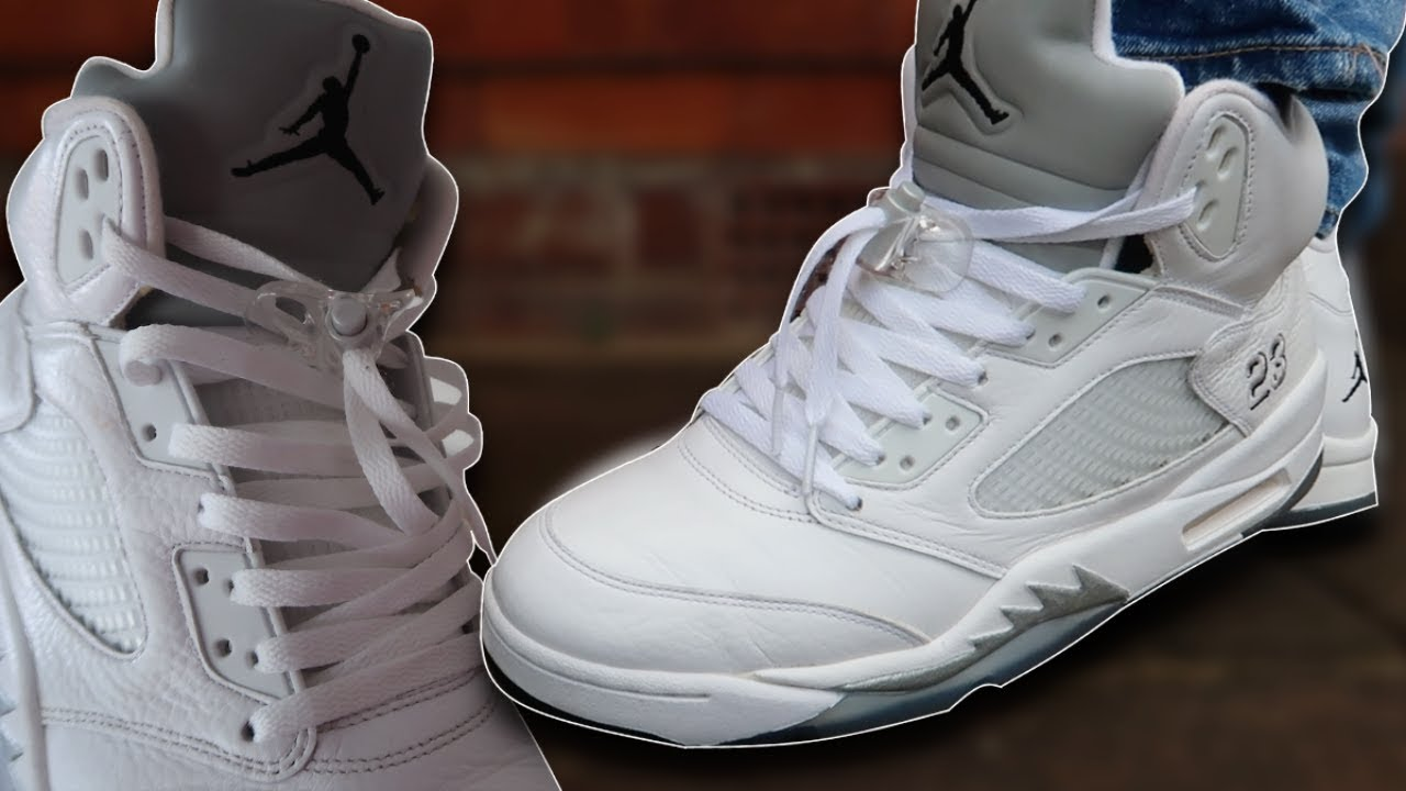 How To Lace Jordan 5's (w/ ON FEET