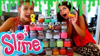 🙀 OUR HUGE SLIME COLLECTION!! 🙀 SHOPPING VLOG TOO!