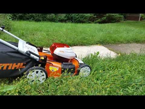 Testing the new lawnmower Stihl 510