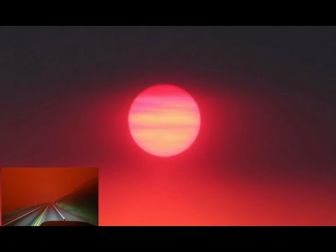 Earth Encompassed in a Strange Red Glow - Arctic Sky Like Never Before Seen by Modern Humans