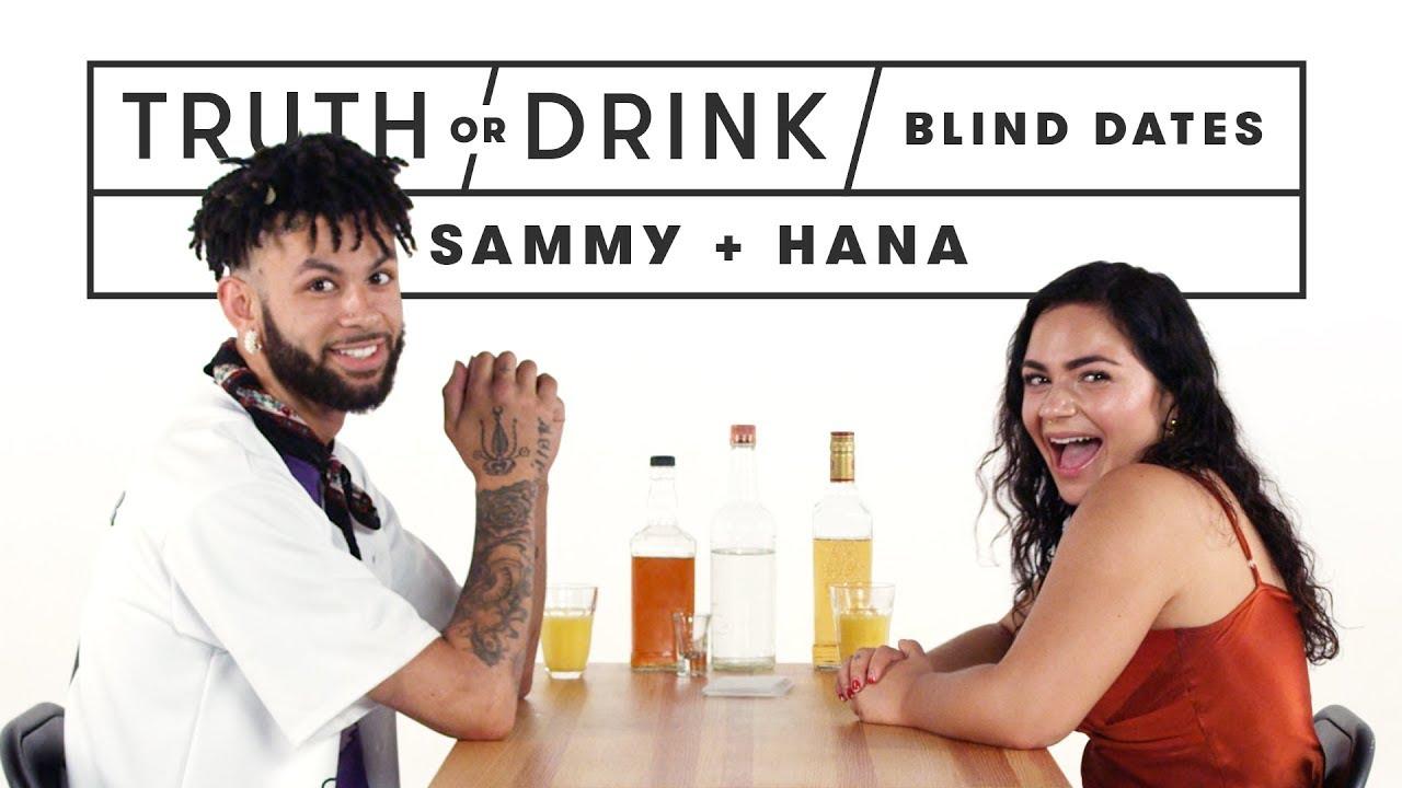 Blind Dates Play Truth or Drink (Sammy & Hana)   Truth or Drink   Cut