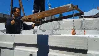 Кран балка(Самодельное Грузоподъемное Устройство для строительства дома из газобетона., 2014-04-21T12:17:08.000Z)