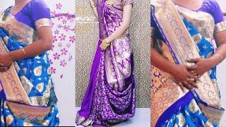 বিয়ে বাড়িতে  শাড়ী পড়ার  স্টাইল || Bridal Saree Draping Tutorial || Wear To Saree For Wedding