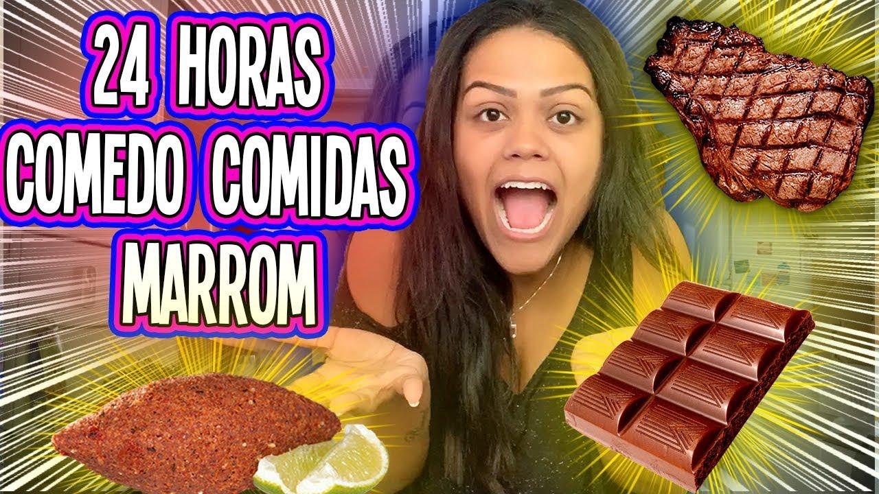 24 HORAS SÓ COMENDO COMIDA MARROM !!!