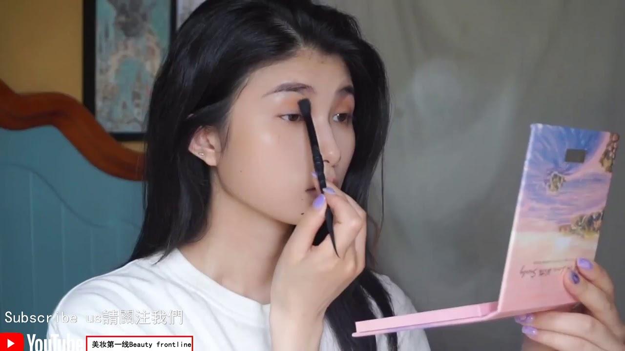 方圓臉夏日妝容夏日柚子甜橙妝粉橘調妝容 - YouTube