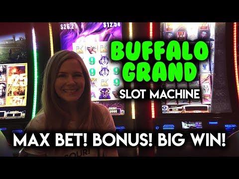 BIG WIN! BONUS! Buffalo Grand Slot Machine! MAX BET!