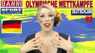 DEUTSCHLAND - Germany #2 - Olympic Wettkampf - Original Banni Sport Fan Style & Make-up