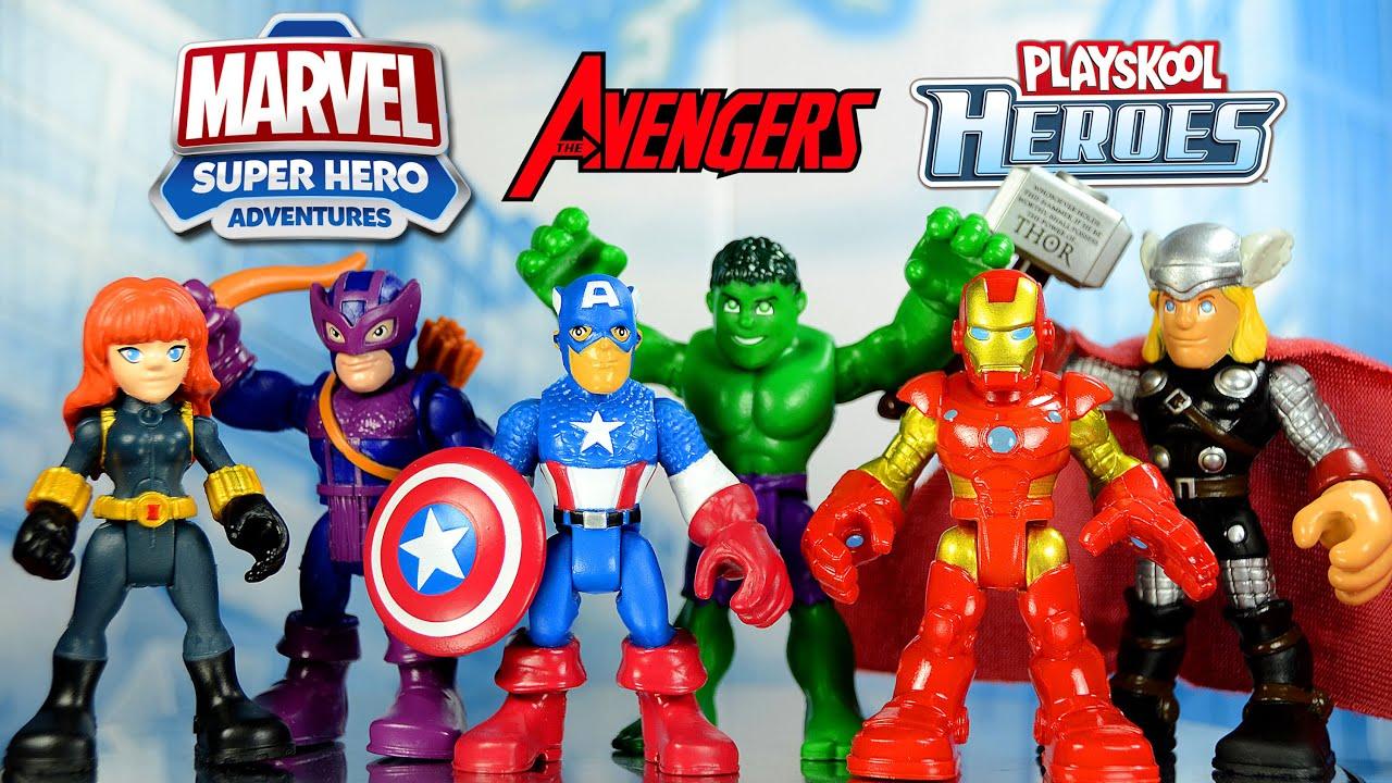The avengers playskool heroes marvel super hero adventures kmart exclusive set youtube - Heros avengers ...