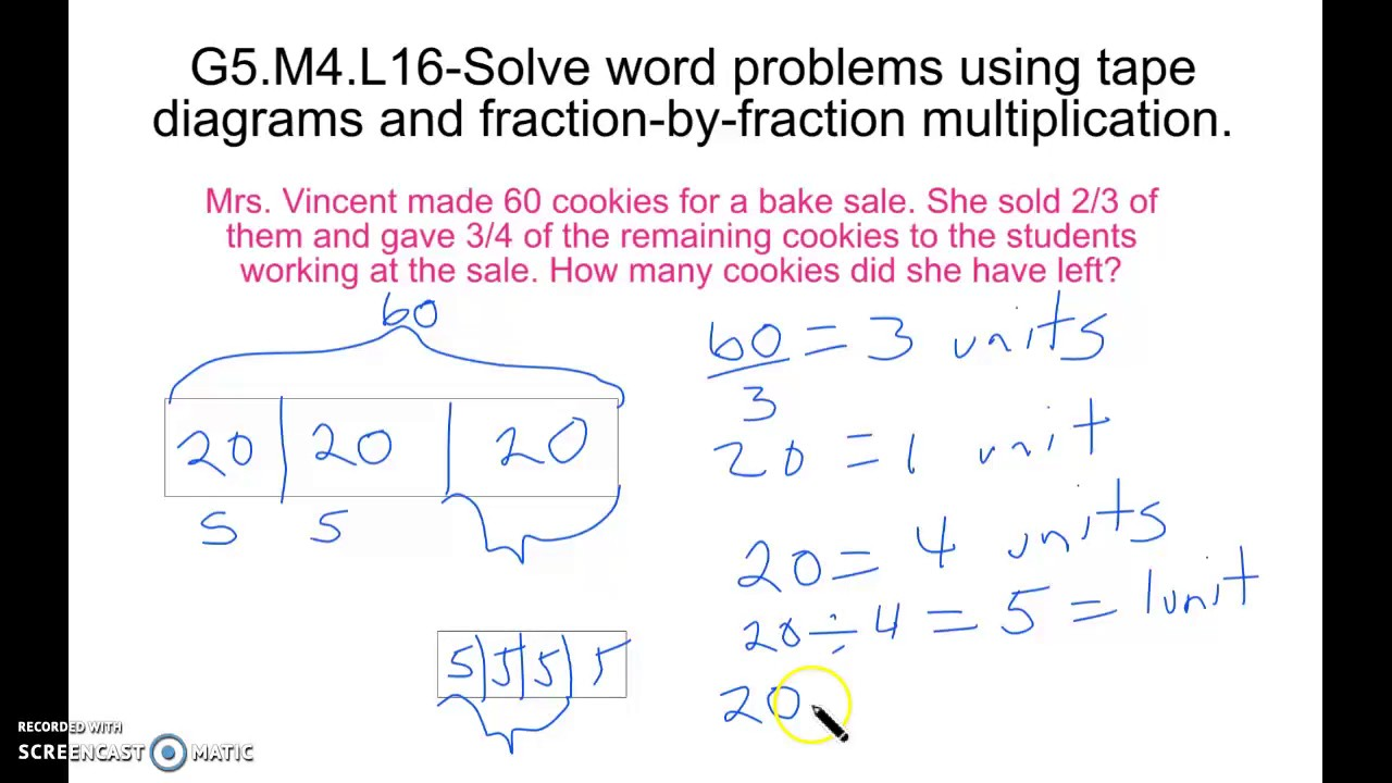 Worksheet Word Problems With Multiplying Fractions g5 m4 l16 solving word problems by multiplying fractions youtube fractions