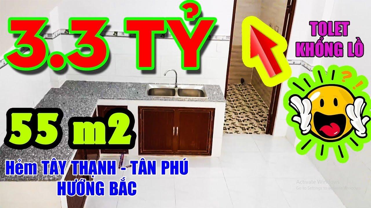 """[Kẹt Tiền] Bán Nhà Quận Tân Phú – P.Tây Thạnh 55m2 (3.3 tỷ) """"GIÁ RẺ"""" 1 trệt 1 lầu, 3P, Gần Aeon"""