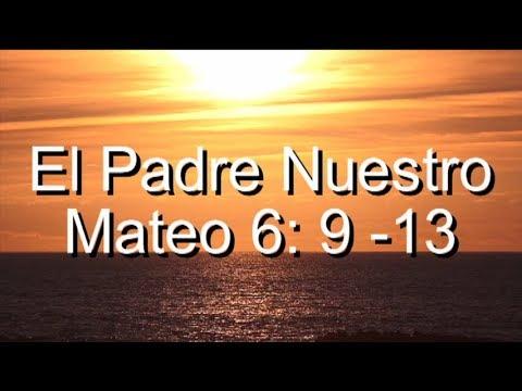 Versículos de la Biblia -El padre nuestro.Mateo 6:9-13