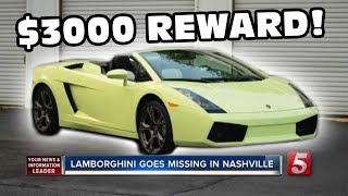 Green Lamborghini Gallardo Stolen And On The Run!