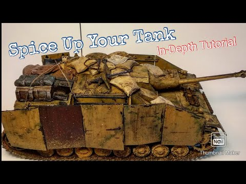 Making, Painting and Adding Stowage/Details to a Model Tank (Finishing the 1/35 Scale StuG. IV)