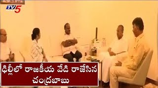 Chandrababu Meets Karnataka Cm Kumaraswamy | Delhi | TV5 News
