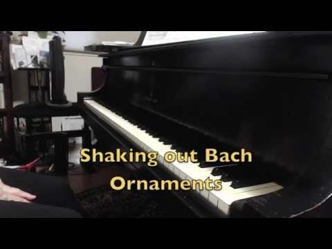 Piano Technique: Shaking out Bach ornaments (with wrist follow through)