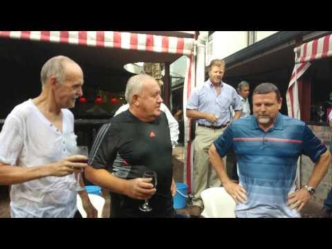 Original Devonshire House Ice Bucket Challenge, Hugo van der Ahee, George Steyn, Prieur du Plessis