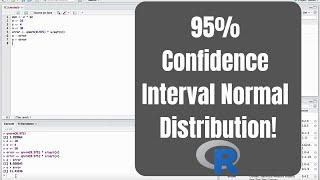 How to make a 95% confidence interval in R - Normal Distribution