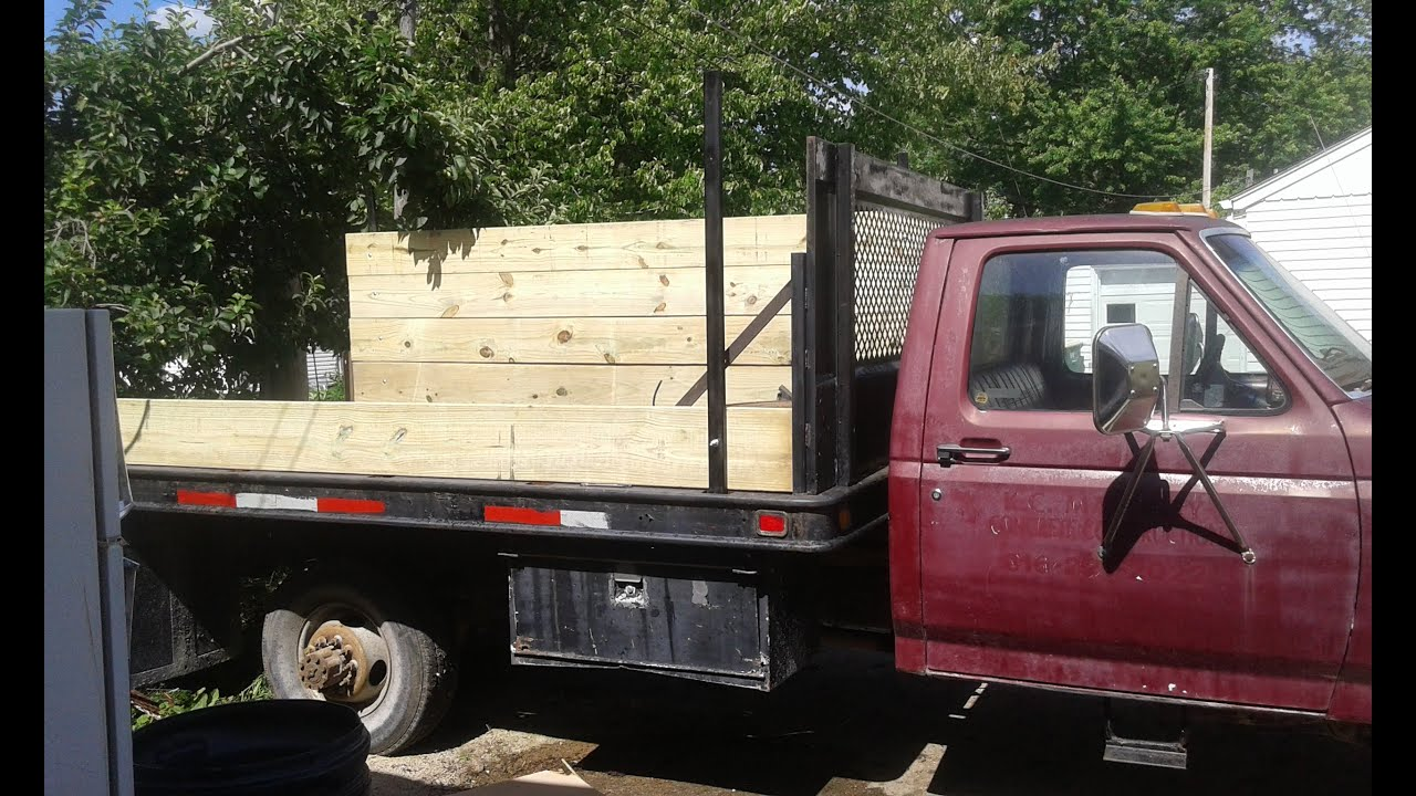 Building Wooden Sides For A Flat Bed Truck