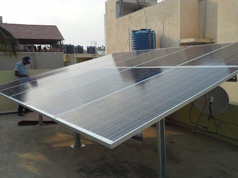 Solar panel installation in India (Bangalore) – PLASMASOLAR