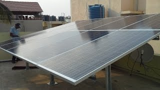 Solar panel installation in India (Bangalore) - PLASMASOLAR