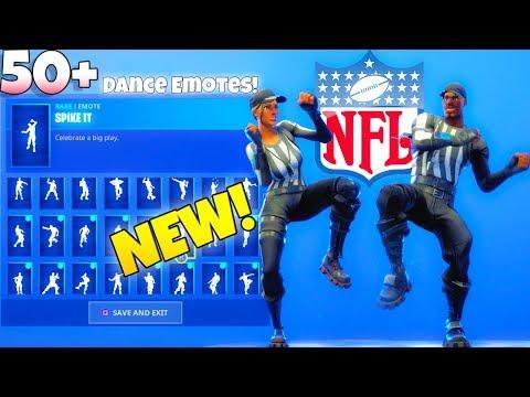 NEW! NFL Referee SKINS! With 50+ Dance Emotes SHOWCASE! Fortnite Battle Royale